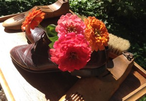 Zinnias and Polished Shoes