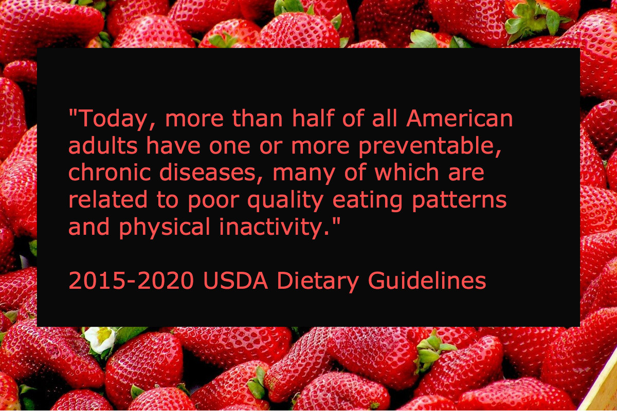 USDA Dietary Guidelines Quote